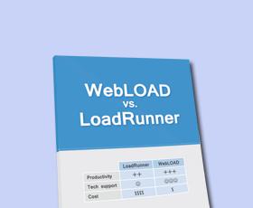 Como é que WebLOAD comparar?