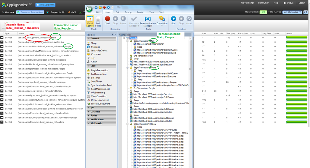 root cause analysis webload and appdynamics