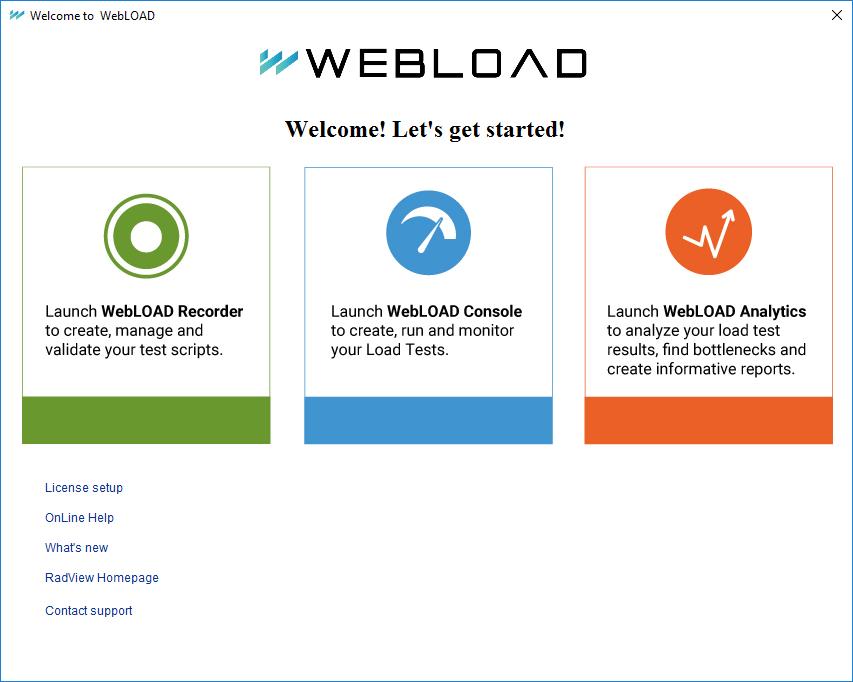 WebLOAD New Desktop UI